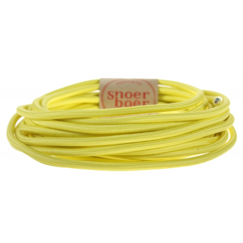Lemon yellow fabric cable