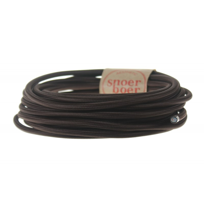 snoerboer colored cable brown