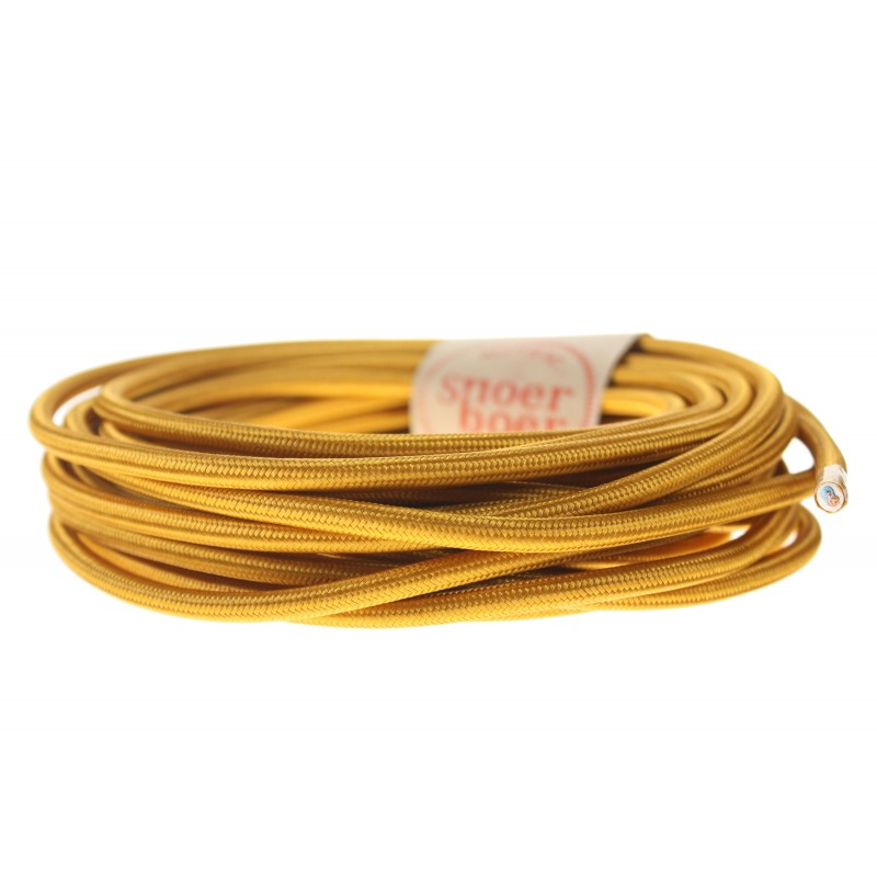 Copper textile cable light essentials