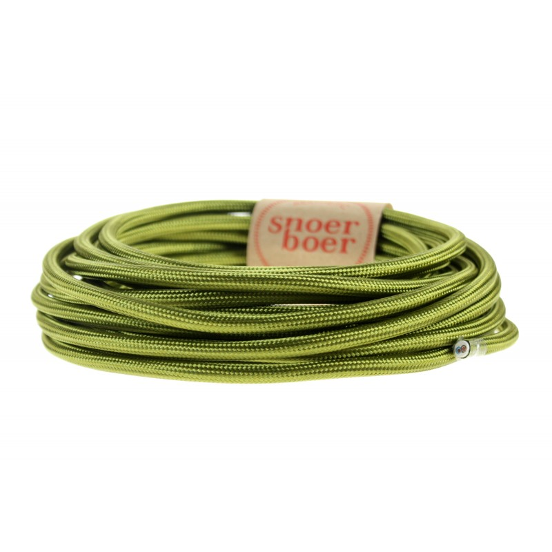 Emerald green textile cable light essentials