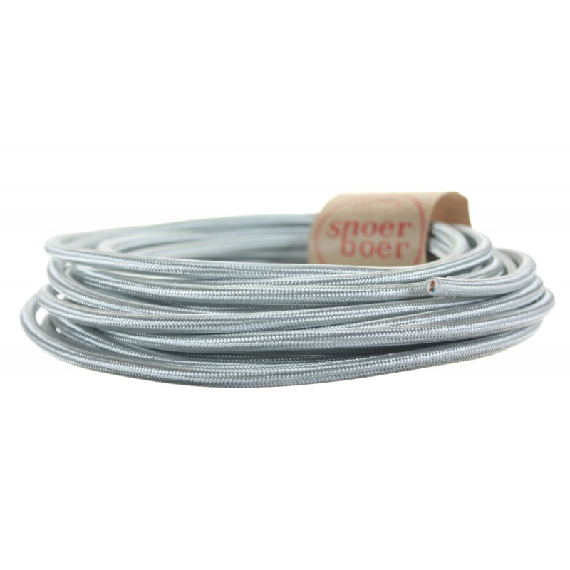 Silver grey fabric cable