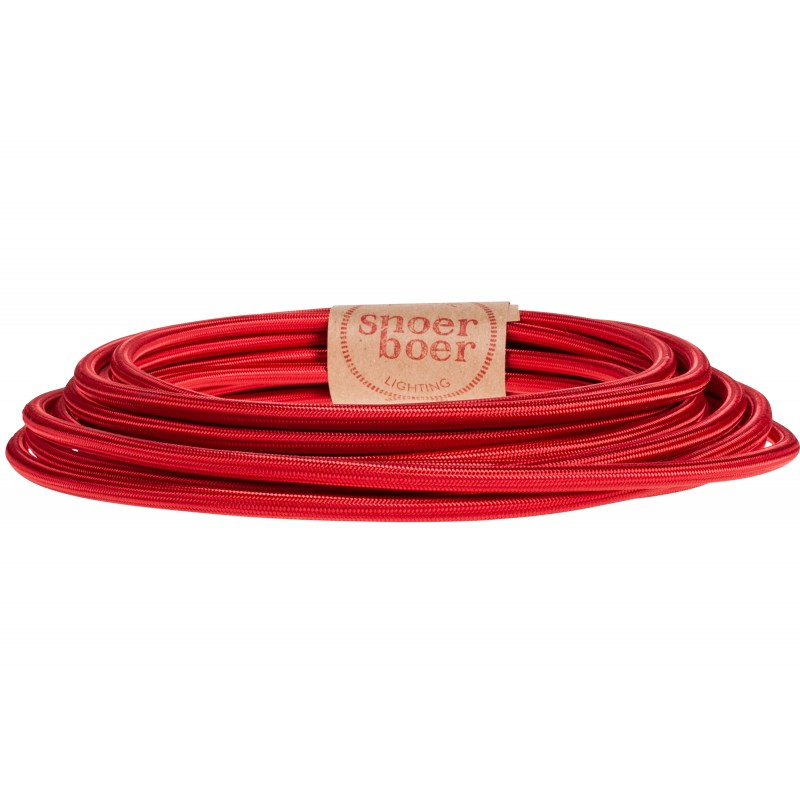 Premium red fabric cable