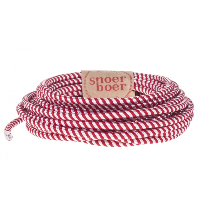 Candy stick fabric cable red white Light Essentials