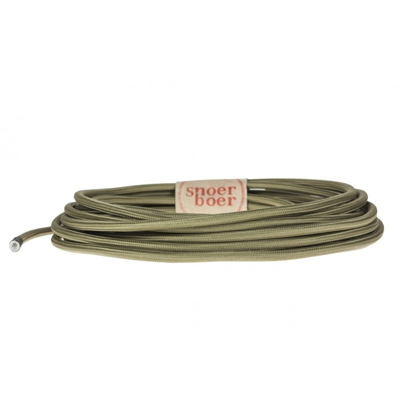 Olive green textile cable by Light Essentials