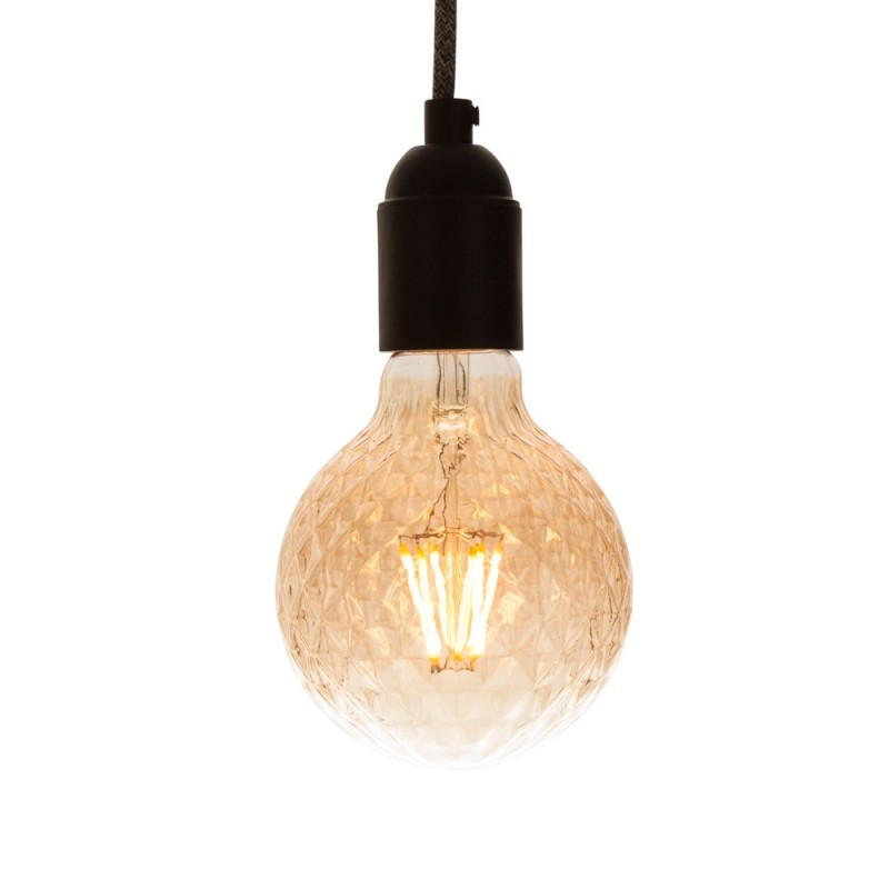 Special LED globe checkered gold 95mm