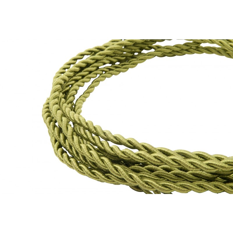 twisted green power cord